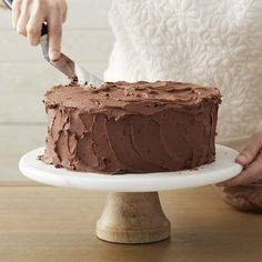 Like our White Buttercream, this Chocolate Buttercream Icing can be easily adapted for decorating or spreading; make thicker or thinner by following our tips.