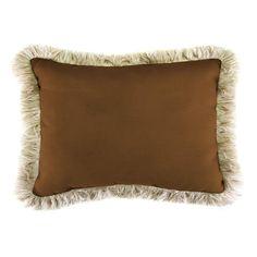 Jordan Manufacturing Sunbrella 9 in. x 22 in. Canvas Teak Outdoor Lumbar Pillow with