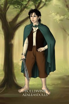Frodo Baggins ~ by RosieGamgee ~ created using the LotR Hobbit doll maker | DollDivine.com