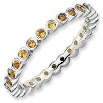 0.43ct Timeless Silver Stackable Citrine Ring Band. Sizes 5-10 Available Jewelry Pot. $67.99. Your item will be shipped the same or next weekday!. 30 Day Money Back Guarantee. 100% Satisfaction Guarantee. Questions? Call 866-923-4446. Fabulous Promotions and Discounts!. All Genuine Diamonds, Gemstones, Materials, and Precious Metals