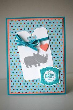 Babykarte mit Zoo Babies - marionstempelt