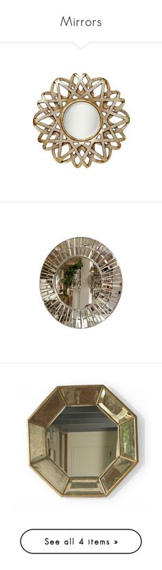 """""""Mirrors"""" by jonnabobana ❤ liked on Polyvore featuring home, home decor, kichler, modern home accessories, modern home decor, modern wall mirrors, mod home decor, mirrors, beveled mirror and octagon mirror"""
