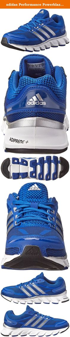 adidas Performance Powerblaze Running Shoe (Little Kid/Big Kid), Collegiate Royal/Silver/Navy, 6 M US Big Kid. They'll blaze right past you in the Powerblaze K from adidas® Kids!Breathable mesh upper with synthetic overlay.Lace-up closure.Padded tongue and collar for comfort and support.Logo at tongue and heel.ADIPRENE+® midsole absorbs shock while providing energy rebound in the forefoot.3-Stripe® design at sides.Smooth fabric lining and padded OrthoLite® footbed for all-day...