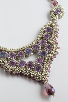 Tutorial for beadwoven necklace 'Máxima' - PDF beading pattern - DIY