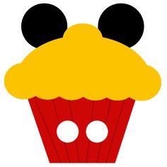 Minnie and Mickey Cupcakes Free Printable Notebook. Mickey Mouse Birthday Cake, Fiesta Mickey Mouse, Mickey Mouse Cupcakes, Mickey Party, Mickey Minnie Mouse, Mickey Mouse Classroom, Disney Classroom, Classroom Ideas, Cupcake Template