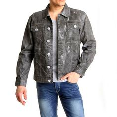 Cody Denim Jacket Black White, $45, now featured on Fab.
