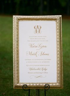 Wedding Planner: Mary Me Photographer: Kim Box Photography- Josh Moates Calligraphy: Poppy Pedals