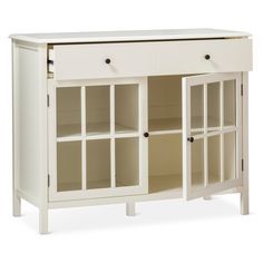 The Windham 2 Door Accent Buffet, Cabinet with Shelves from Threshold (possible DIY bunny hutch furniture piece)