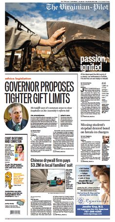 The Virginian-Pilot's front page for Saturday, March 28, 2015.