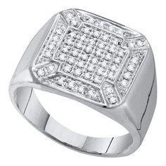 1/3CT-Diamond MICRO-PAVE MENS RING