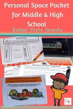 Social skills packet for speech therapy or special education.  Age appropriate materials to teach the concept and vocabulary surrounding personal space to your middle and high school students.  Includes teaching story, you tube links & activities.