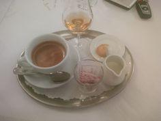 Coffee & grappa @ Restaurant Quaglinos