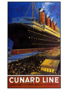 art deco ship poster