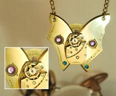 Handcrafted Steampunk Pendant Necklace handmade by CosmicRobot1, £16.00
