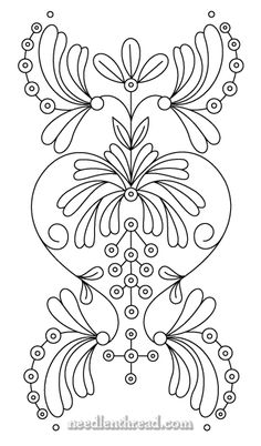 Free Hand Embroidery Pattern: Art Nouveau