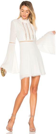 Short White Bridesmaid Dress // #bridesmaid #white #dress //   Follow The Bohemian Wedding on Instagram & Facebook