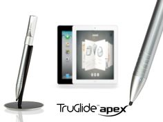 TruGlide Apex: Fine Point Electronic Stylus for iPad by Bob Martin — Kickstarter.  The TruGlide Apex features a tip size of only 2.4mm and uses electronic circuitry to deliver a precision writing experience!