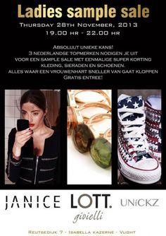Ladies Sample Sale -- Isabella Kazerne  Vught -- 28/11