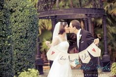 """Vintage edit with """"love never fails"""" banner.  Can you say adorable?"""