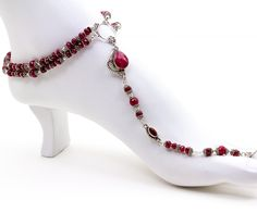 AmberTortoise Jewelry - Gorgeous Natural Ruby Naked Sandal Foot Jewelry, Barefoot Sandals, Sexy Foot Jewelry $1,489.00 (http://www.ambertortoise.com/gorgeous-ruby-naked-sandal-foot-jewelry/)