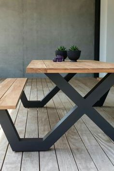 diy furniture redo before and after Formia picnic table - Overstock Garden Garden furniture, Metal Garden Furniture, Welded Furniture, Diy Furniture Redo, Industrial Design Furniture, Iron Furniture, Steel Furniture, Furniture Projects, Home Furniture, Furniture Design
