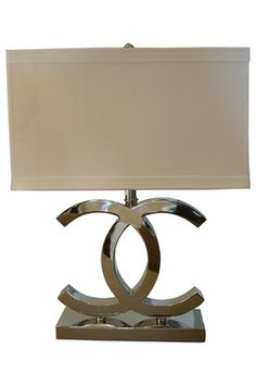 """$549 Chanel inspired lamp  I need this for the two """"C's"""" in my life!"""