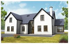 Plan a home. Bright Hallway, House Designs Ireland, Cost To Build, Construction Cost, House Extensions, New Builds, House Painting, Front Elevation, Living Spaces