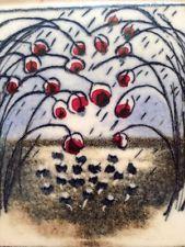 ARABIA of FINLAND Signed 1984 Wall Tile HELJA LIUKKO SUNDSTROM Vintage Rare