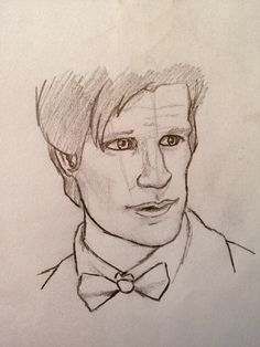 guess WHO!! ;) Doctor Who art sketch drawing Dr. Who