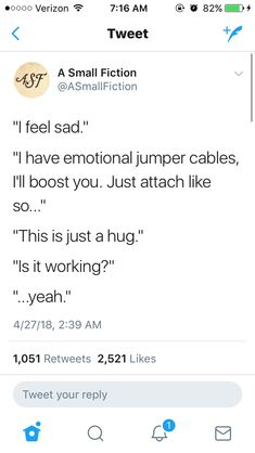 What if there was a world where you could literally switch emotions with others through touch? Like, your brother is sad because his gf broke up with him, and you just got a raise, so you give him a hug, and you give him some of your joy and you get some of his sadness and it levels off at contentment and comfort.