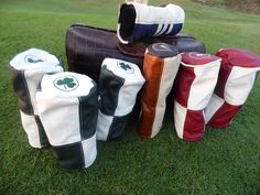 Leather head covers. Barrel Style!!