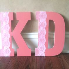 coral and lace kappa delta letters