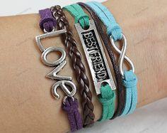 bestfriend love bracelets braceletsbraided rope by lifesunshine, $6.99