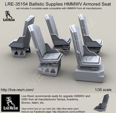 Live Resin 35154 1/35 Ballistic Supplies HMMWV Armored Seat picclick.com