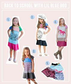 Back to school clothing from lilblueboo.com