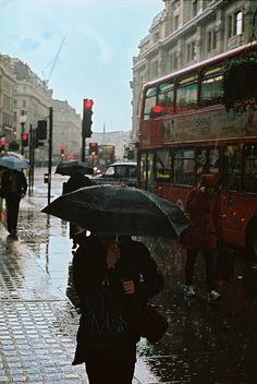 Gotta love the rain. Rain on Regent Street, London (by bigsplash) Rainy Night, Rainy Days, Rain Fall Down, London Rain, I Love Rain, Walking In The Rain, England And Scotland, Perfect World, London Calling