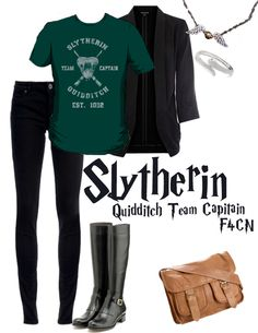 Slytherin- would totally wear minus the purse