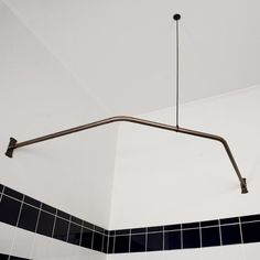 Neo Angle Shower Rod with Ceiling Support - Shower Curtain Rods - Bathroom