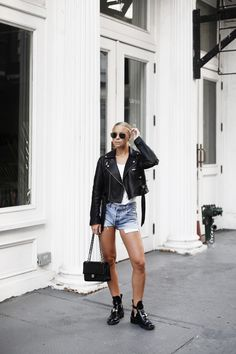 Shoes – balenciaga (here) sunglasses – ray ban (here) top – gina tricot Office Fashion Women, Womens Fashion For Work, Leather Jacket Outfits, Living At Home, Gina Tricot, Fashion Over 50, Women's Fashion Dresses, Balenciaga, Ray Bans