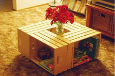 Crate Coffee Table Shelves