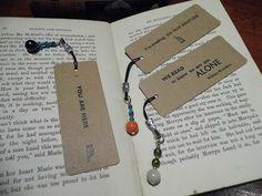 Bead bookmark letterpress quotes Plato Stephen by love4letterpress