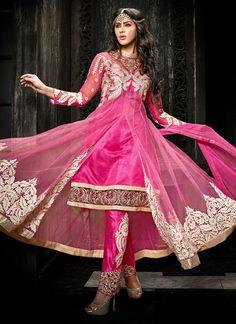 Outstanding Resham Work Salwar Suit   Item Code: 4269