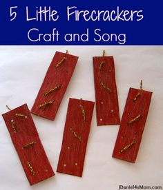 5 Little Firecrackers Craft and Song