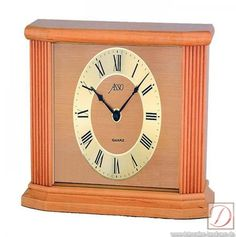 beautiful desk clock made of alder, 15 cm wide, 24 cm high