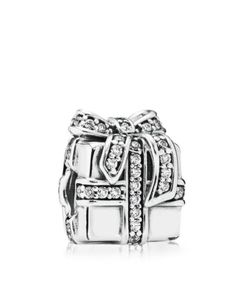 PANDORA Charm - Sterling Silver & Cubic Zirconia Sparkling Surprise, Moments Collection