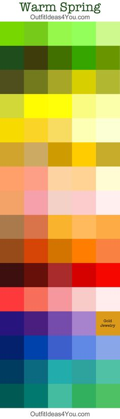 "warm spring color palette. Some hues are more as my "" Bright Spring"" group."