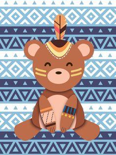 Poster - Ursinho Tribal