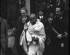Search the British Pathé archive for vintage newsreels of Gandhi.