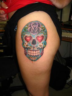 day of the dead skull tattoos - Google Search