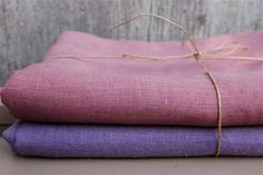 hand dyed linen..